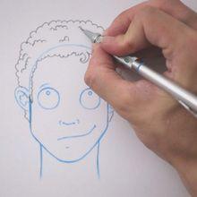 Zeichnen Sie eine Frisur: Gelockt