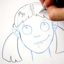 Zeichnen Sie eine Frisur: Rattenschwänzchen