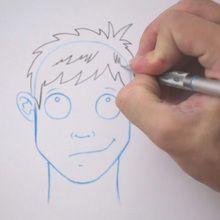 Zeichnen Sie eine Frisur: Zerzaust