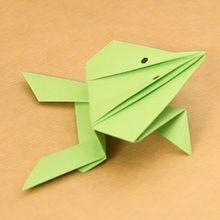 Die Origami Frosch für kinder