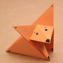 Die Origami Fuchs für kinder