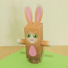 PaperToy Osterns: das Kaninchen