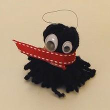 Schlüsselanhänger Wolle Monster