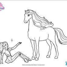 Barbie saß neben seinem Pferd