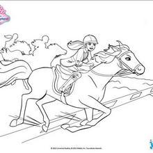 Barbie und ihr Pferd im Galopp