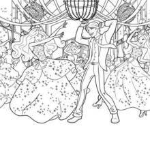Die Partei an der School of Princesses Färbung