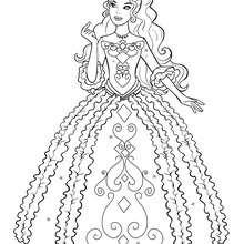 Renée Färbung in ihrem schönen Kleid