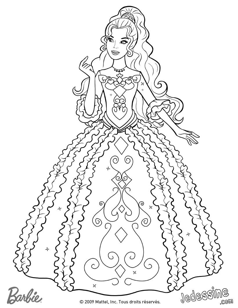 Barbie Diamantschloss Ausmalbilder : Barbie Zum Ausmalen De Hellokids Com