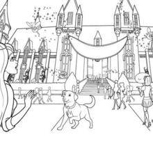 Schule für Princesses Coloring
