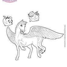 Sylvie geflügelte Pferd Mariposa