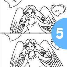 ENGEL 5 Unterschiede Spiel