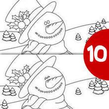 SCHNEEMANN finde die 10 Unterschiede