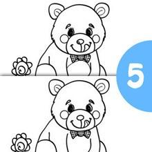 BÄR finde die 5 Unterschiede