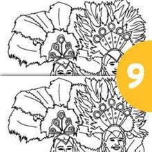 Rio Karnevaltänzer finde die Unterschiede