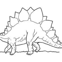 Laufender Stegosaurus zum Ausmalen