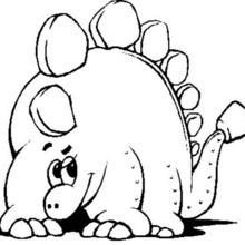 Lustiger Stegosaurus zum Ausmalen