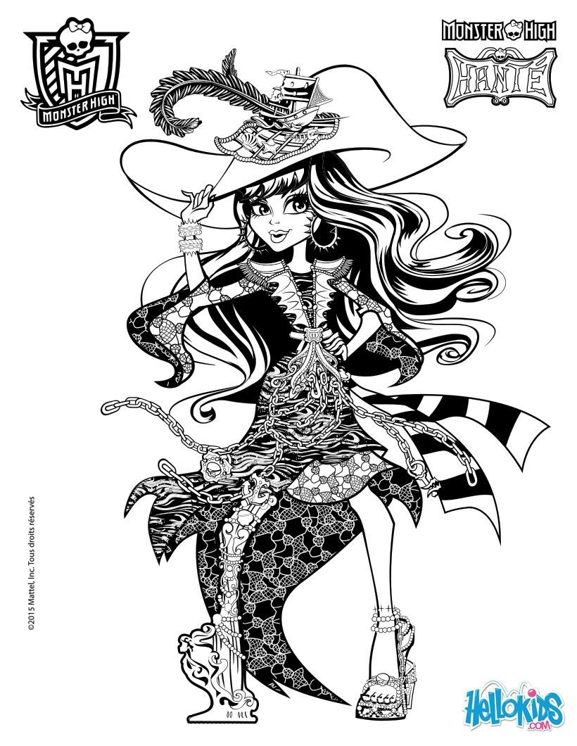 Monster High Coloring Pages Spectra Vondergeist Printable Banco De