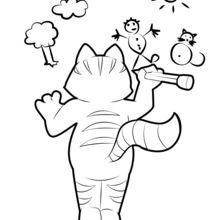 Eine Katze, die zeichnet