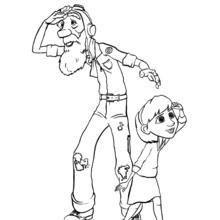 Der Großvater und Enkelin