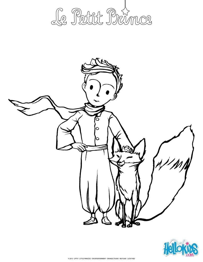 Der Kleine Prinz Und Der Fuchs Zum Ausmalen De Hellokids Com