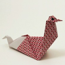 Die Origami-Huhn
