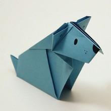 Die Origami hund