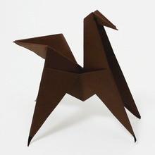 Die Origami-Pferd