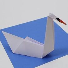 Die Origami-Schwan
