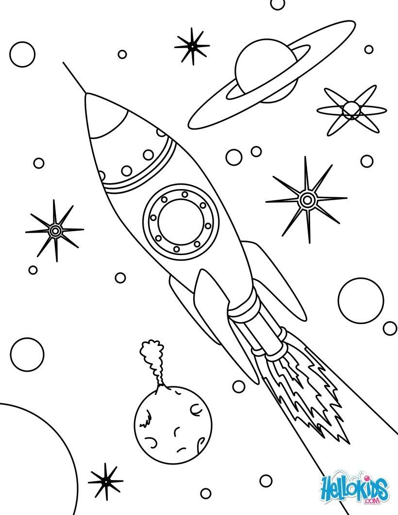 Raumschiff : Ausmalbilder, Kostenlose Spiele, Videos für Kinder ...