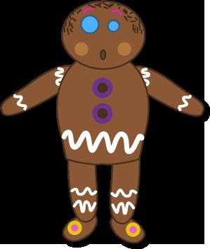 Lebkuchen-Mann-Puppe