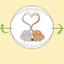 Mäuseschwanz Herzen Thaumatrop
