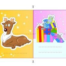Rentier & Christmas Gifts Pop-up-Platz-Karten