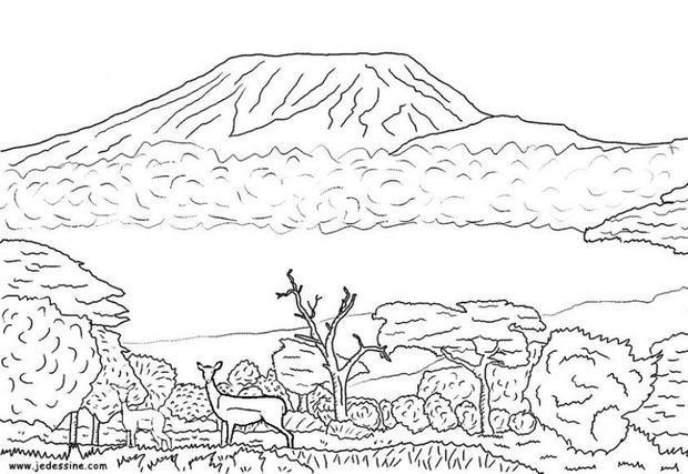 Mt Vesuvius Coloring Page