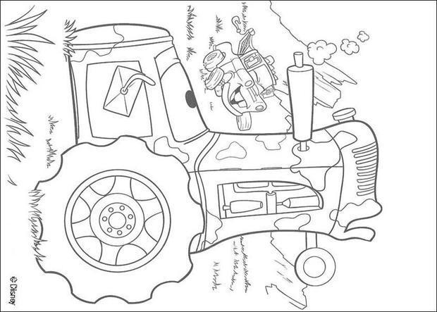 hook und ein traktor zum ausmalen - de.hellokids