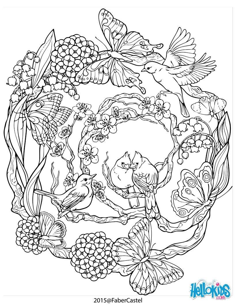 Mandala mit natürlichen Muster