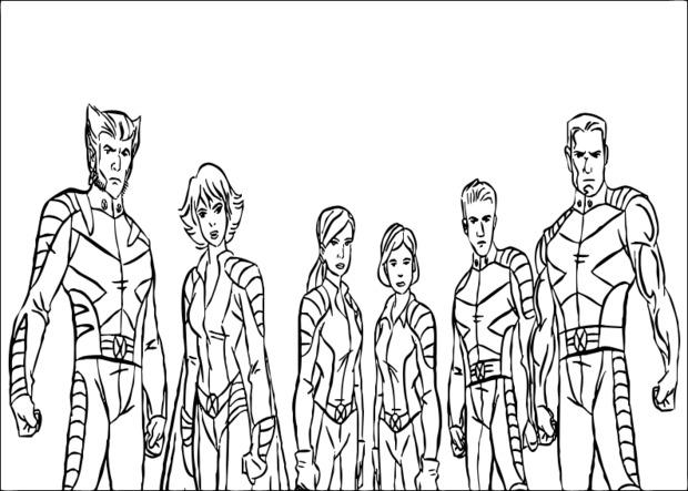 coloring book pages x man - photo#37