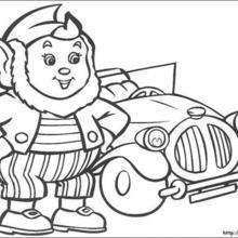 Großohr mit einem Auto