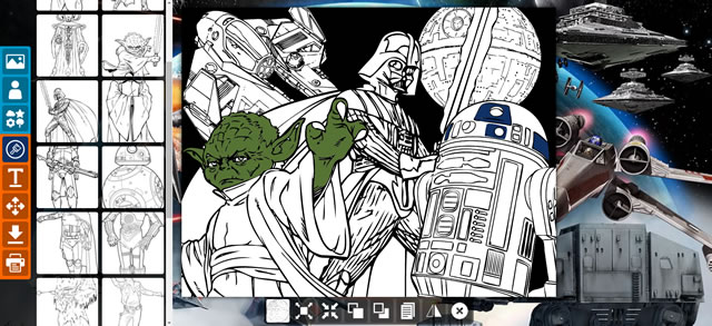 Erstellen Sie ein Star Wars Färbung