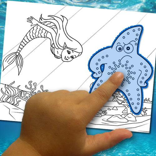 Einen Färbung: Die Unterwasserwelt