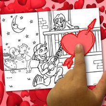 Erstellen Sie eine Färbung Valentine