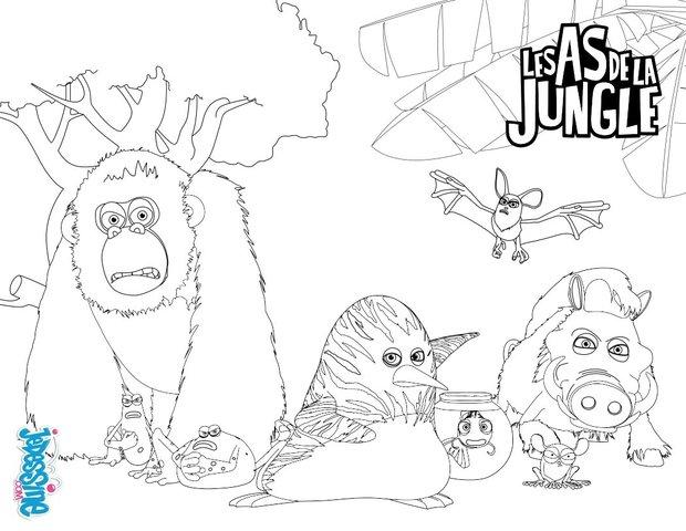 Dschungel : Ausmalbilder, Kostenlose Spiele, Videos für Kinder ...