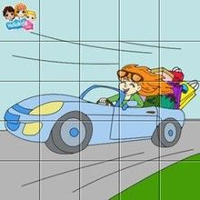 MUTTER mit Auto Puzzle