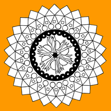 Mandala der vier Elemente