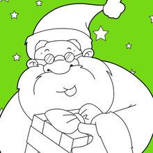 Weihnachtsmann lächelnd