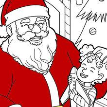 Der Weihnachtsmann lacht