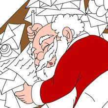 Weihnachstmann schläft zum Ausmalen