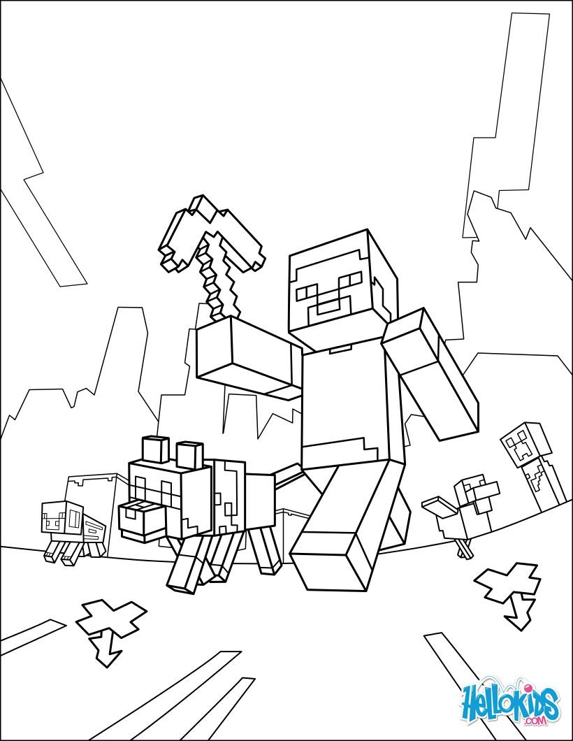 Tolle Kostenlose Minecraft Malvorlagen Zeitgen Ssisch Malvorlagen