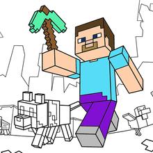 Minecraft ausmalbilder - Einen Spaziergang machen