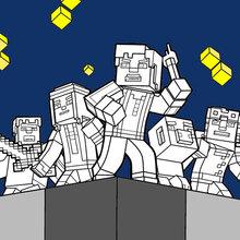 Minecraft Ausmalbilder - Entdecken Sie die Welt