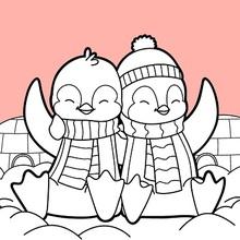 Pinguine Valentinstag